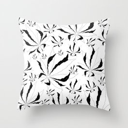 Weed position universe Throw Pillow