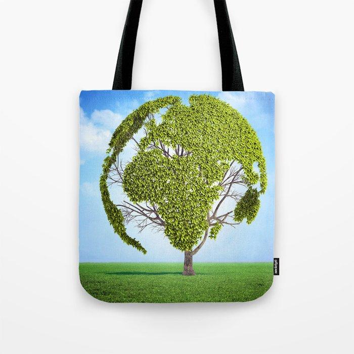 Globe Tree Tote Bag