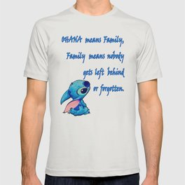 Lilo & Stitch - Ohana Quote T-shirt