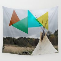 camp Wall Tapestries featuring Camp Colors by Wishbone & Marrow