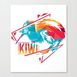 Kiwi Polygon Gift Canvas Print