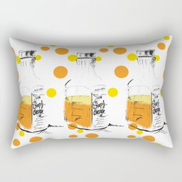 I Am Orange Lover: Pop Art Illustration Rectangular Pillow