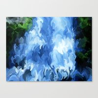 waterfall Canvas Prints featuring Waterfall by Paul Kimble
