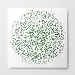 Fuck Cancer Mandala Metal Print
