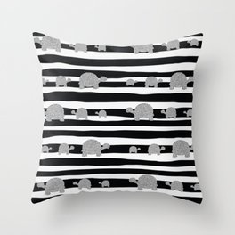 Silver turtle pattern Throw Pillow