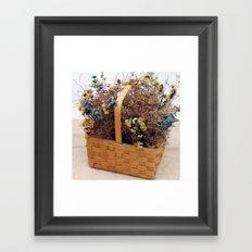 Mothers Basket of Lovely Flowers Framed Art Print