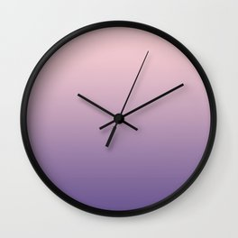 Gradient Millennial Pink Ultra Violet Pattern | Trendy color of the year 2018 Wall Clock