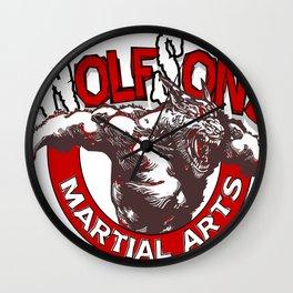 WolfSons2 Wall Clock