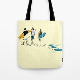 Strolling Surfers Tote Bag