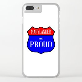 Marylander And Proud Clear iPhone Case