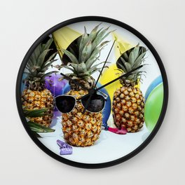 Pineapple Party Time Wall Clock
