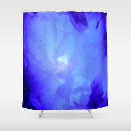 Textures (Blue version) Shower Curtain