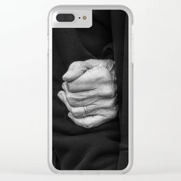 Hands, your hands! Clear iPhone Case
