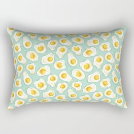 fried egg eggs sunny side up cute food pattern Rectangular Pillow