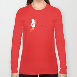 Cupid with bow and heart shaped arrows. All you need is love concept. Long Sleeve T-shirt