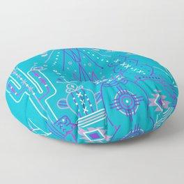 Santa Fe Garden – Blue & Purple Floor Pillow