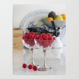 Raspberry desserts Poster