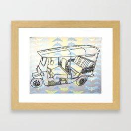 Cicada Tuk Tuk Framed Art Print
