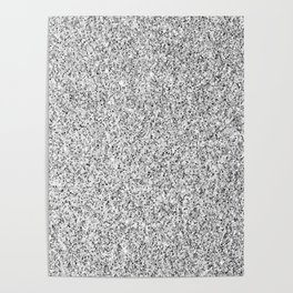 Beautiful Silver glitter sparkles Poster