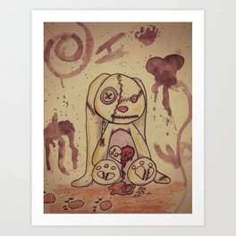 Love Lost Bunny Art Print