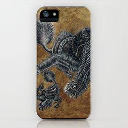 """""""Victorians Riding Dinosaurs - Nomingia"""" iPhone Case"""