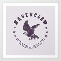ravenclaw Art Prints featuring Ravenclaw House by Shelby Ticsay