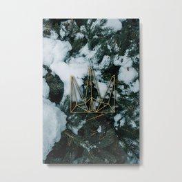 Winter Gold Metal Print