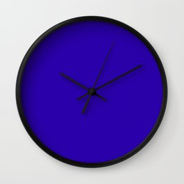 So dark Blue Wall Clock