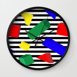 Primary Blocks Wall Clock