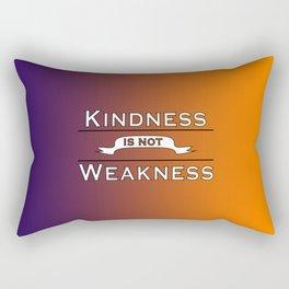 Kindness is not Weakness Purple to Orange Gradient Rectangular Pillow