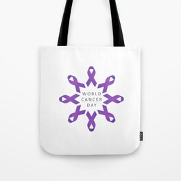 World Cancer Day Awareness 4th February Tote Bag