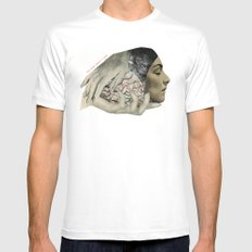 fig. 25 White Mens Fitted Tee MEDIUM