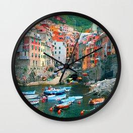 Italy. Cinque Terre marina Wall Clock
