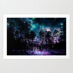 One Magical Night... (teal & purple) Art Print