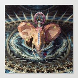 World Trance Elephant Canvas Print