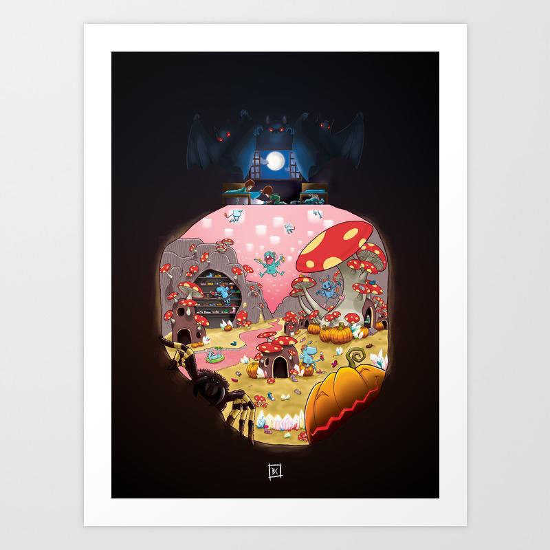 What's Under My Bed? Art Print by Brunocosta PRN8556684
