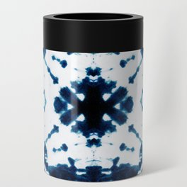 Velvet Shibori Blue Can Cooler