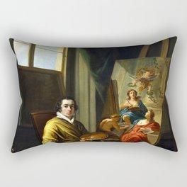 Joseph Abel Self-Portrait in the Studio Rectangular Pillow