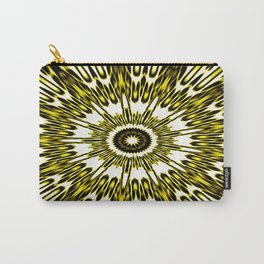 Yellow White Black Sun Explosion Carry-All Pouch