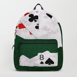 Poker Hand Two Pair Ten Eight Three Backpack