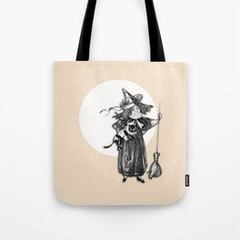 Little Witch Halloween Design Tote Bag