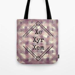 Xe/Xyr/Xem Pronouns Red Tint Tote Bag