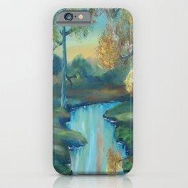 Autumn is Here, Original Contemporary Oil Painting, Original Modern Art, landscape, Luna Smith iPhone Case