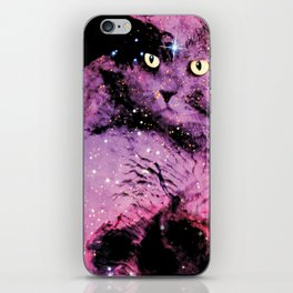 Celestial Cat - The British Shorthair & The Pelican Nebula iPhone Skin