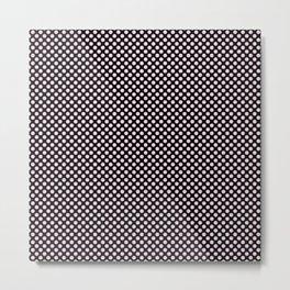 Black and Ballet Slipper Polka Dots Metal Print