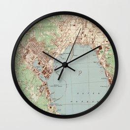 Vintage La Spezia Italy Map (1943) Wall Clock
