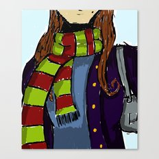 The Scarf Canvas Print