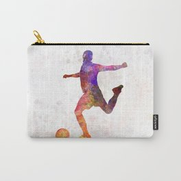 man soccer football player 03 Carry-All Pouch