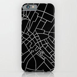 London Road Blocks Black iPhone Case