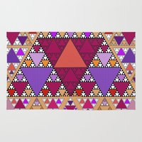 triangle Area & Throw Rugs featuring Triangle by Anne Seltmann